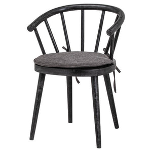 Bkack Nordic Dining Chair made from mango wood. Product image.