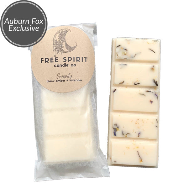 Serenity Wax Melts exclusive to Auburn Fox.