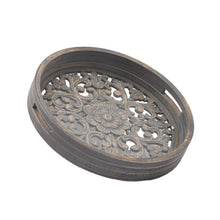 Load image into Gallery viewer, Set Of 2 Grey Wash Louis Trays. Product Image 2