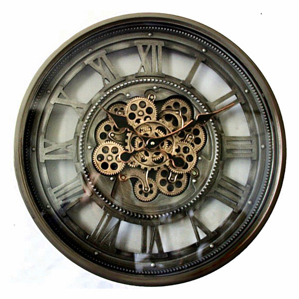 Industrial Moving Gears Clock.