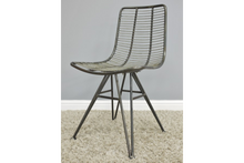 Load image into Gallery viewer, Industrial wire designer style dining chair