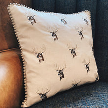 Load image into Gallery viewer, Embroidered Stag Cushion