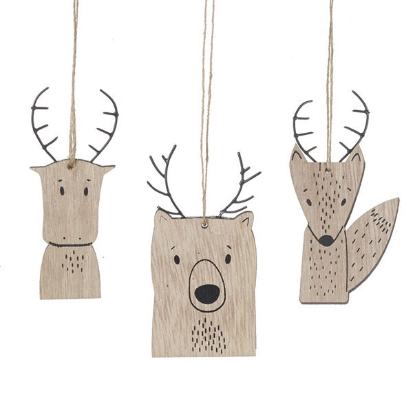 Woodland Animal Hanging Decorations