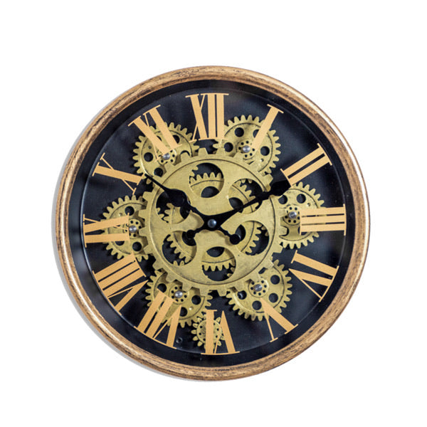 Small Gold Moving Gear Clock.