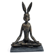 Load image into Gallery viewer, Yoga Bunny Ornament Lotus Position. Main Image.