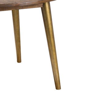 Savanna Gold Round Dining Table. Close up of gold legs.