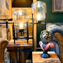Load image into Gallery viewer, Vintage Industrial Glass Glow Lamp. Lifestyle image.