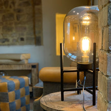 Load image into Gallery viewer, Vintage Industrial Glass Glow Lamp. Auburn Fox showroom image, Thrapston, Northamptonshire.