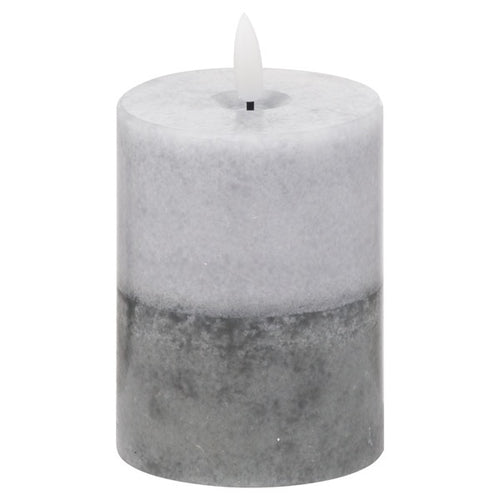 Luxe Collection LED Real Wax Grey dipped Candle [Small]