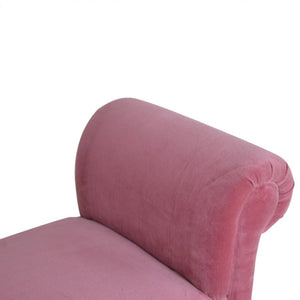 Blush Pink Velvet Chaise, bedroom bench or window seat.