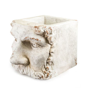 Large Stone Effect Classical Face Planter with no plant.