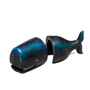 Cast Iron Whale Bookends.