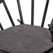 Load image into Gallery viewer, Bkack Nordic Dining Chair made from mango wood. Close up of seat.