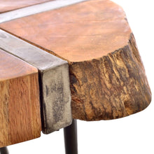 Load image into Gallery viewer, Industrial Sawn Side Tables. Close up of table edge.