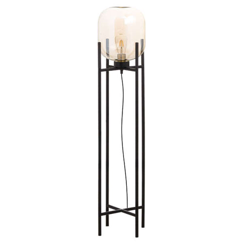 Large Vintage Industrial Glass Glow Lamp. Product image.
