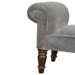 Velvet Chaise [Manhattan Grey]