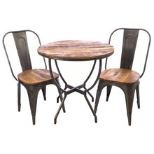 Load image into Gallery viewer, Industrial Bistro dining chair made of steel metal with a mango wood seat.