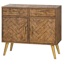 Load image into Gallery viewer, Savanna Gold Sideboard with 2 drawers and double cupboard. Product Image.