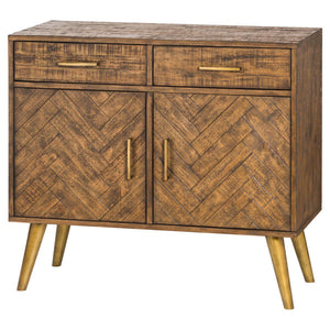 Savanna Gold Sideboard with 2 drawers and double cupboard. Product Image.
