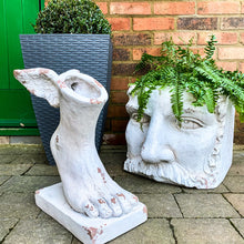 Load image into Gallery viewer, Large Stone Effect Classical Face Planter lifestyle image.