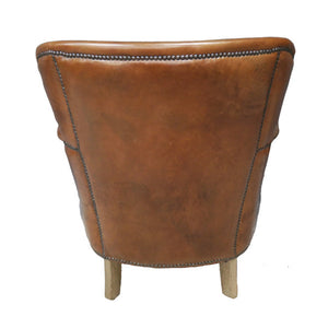 Leather Lounge Chair. Back view.