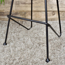 Load image into Gallery viewer, A great looking bar stool made of iron and sheesham wood.
