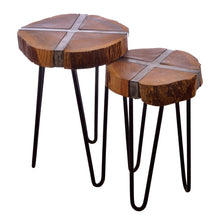 Load image into Gallery viewer, Industrial Sawn Side Tables.