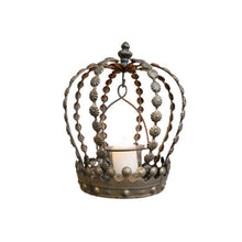 Load image into Gallery viewer, Crown Tea Light Holder. Product image.