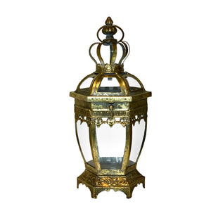 Small Gold Table lantern.