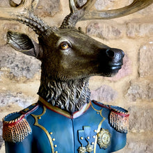 Load image into Gallery viewer, Military Large Stag Bust