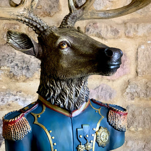 Military Large Stag Bust