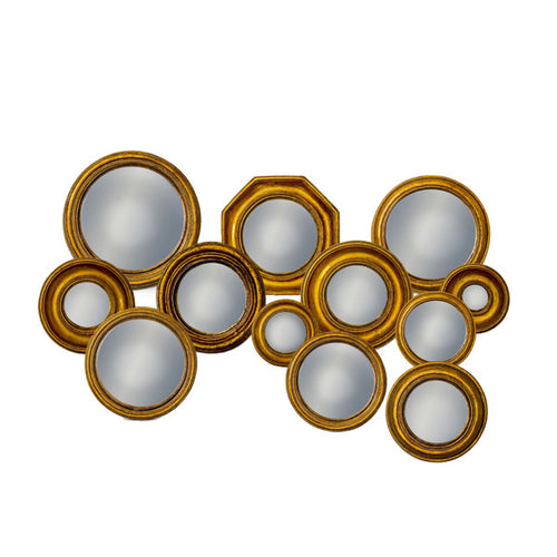 Gold Convex Mirror Set
