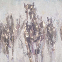 Load image into Gallery viewer, Wild Horses On Cement Board With Frame. Close up of horses.
