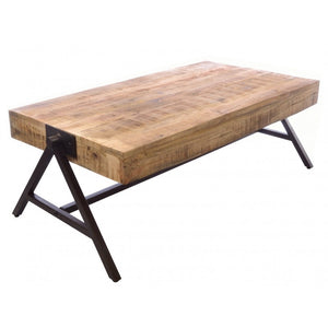 Industrial A-Frame Coffee Table