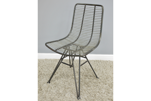 Industrial wire designer style dining chair