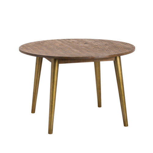 Savanna Gold Round Dining Table.