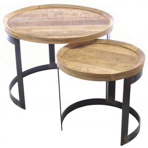 Industrial Round Nest of Tables