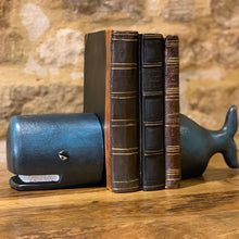 Load image into Gallery viewer, Cast Iron Whale Bookends. Auburn Fox Showroom image, Thrapston, Northamptonshire.