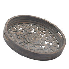 Load image into Gallery viewer, Set Of 2 Grey Wash Louis Trays. Product Image.