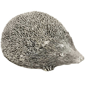 Silver Hedgehog Ornament. Large.