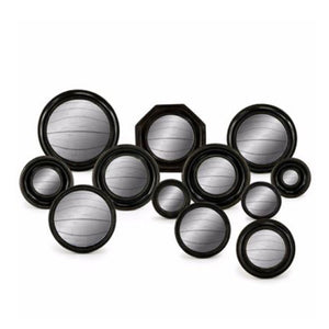 Black Convex Mirror Set.