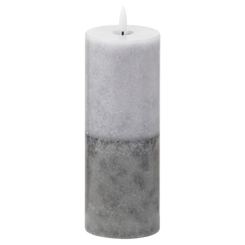 Luxe Collection LED Real Wax Grey Dipped Candle [Large]