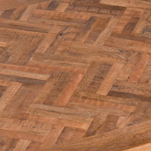 Parquet Coffee Table. Close up of Acacia hardwood parquet top.