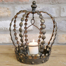 Load image into Gallery viewer, Crown Tea Light Holder. Lifestyle image.