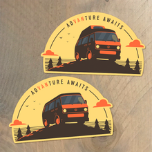 Volkswagen T3 sticker - Adventure Awaits