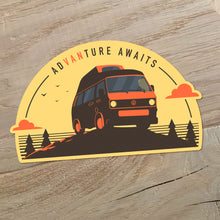 Volkswagen T3 High Top sticker - Adventure Awaits