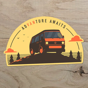 Volkswagen T3 Vanagon sticker - Adventure Awaits