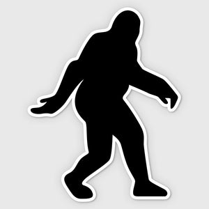 bigfoot sasquatch sticker bumper black