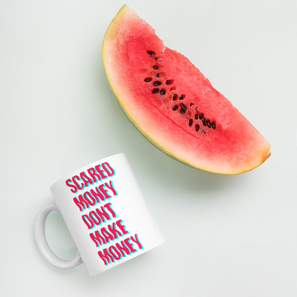 Scared Money Mug - Infrared/Aqua - LaGoon Goods