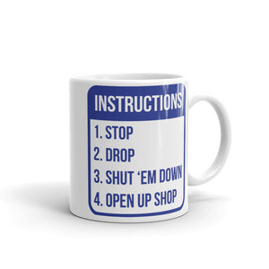 Hip Hop Instructions, 2 Sided Mug - Gold Digger/Ruff Ryder - LaGoon Goods